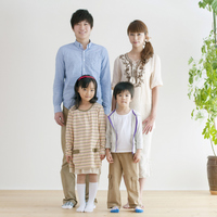 Portrait of a family of four Stock photo [2077033] Person