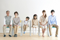 3 generation family sitting in a chair Stock photo [2077154] Person