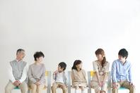 3 generation family sitting in a chair Stock photo [2077156] Person
