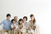 3 generation family sitting on sofa Stock photo [2077163] Person