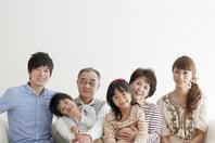 3 generation family sitting on sofa Stock photo [2077170] Person
