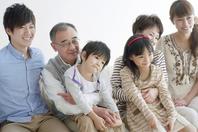 3 generation family sitting on sofa Stock photo [2077275] Person