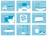 House cleaning icon [2079856] House