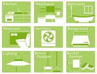 House cleaning icon [2079861] House