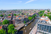The view from the streets west church in the Netherlands Amsterdam Stock photo [2080915] Europe