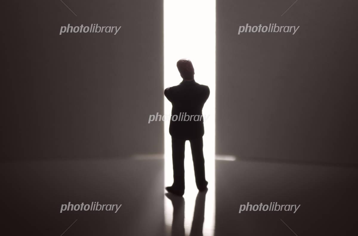 Door and businessman Photo