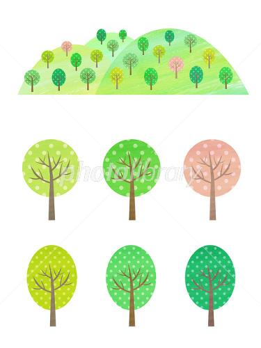 山と木のイラスト イラスト素材 2176081 フォトライブラリー