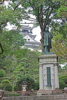 Itagaki Taisuke image and Kochi Castle Stock photo [2168703] Itagaki