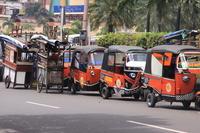 Bajaj of Jakarta turn waiting Stock photo [2169820] Indonesia