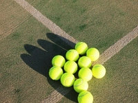 Coat and tennis ball Stock photo [2171569] Tennis