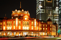 Tokyo Station Marunouchi station building south exit of light-up of preservation and restoration work completed Stock photo [2172326] Landscape