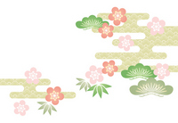 Sho Chiku Bai White Background [2174347] Pine,