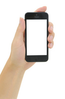 Hand with a smartphone Stock photo [2176465] iphone