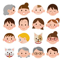 Family face expression [2177200] Face