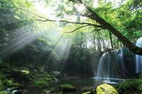 Beam of light of Nabe~ketaki Stock photo [2177439] Kumamoto
