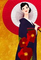 Woman wearing a kimono [2178218] An
