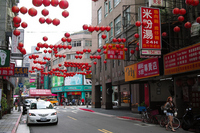 Streets where there is a Taipei red lanterns Stock photo [2179204] Lantern