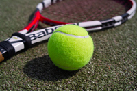 Tennis ball and racket Stock photo [2179668] Sport