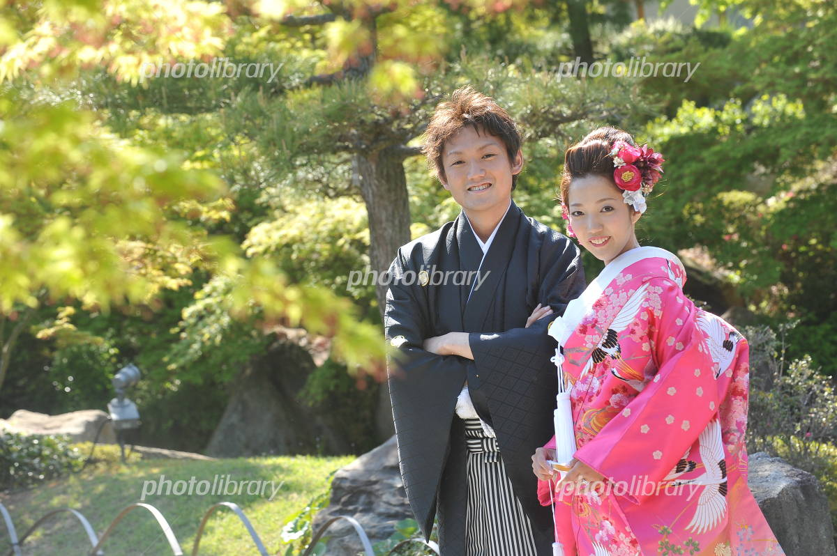 Kimono bride and groom Photo