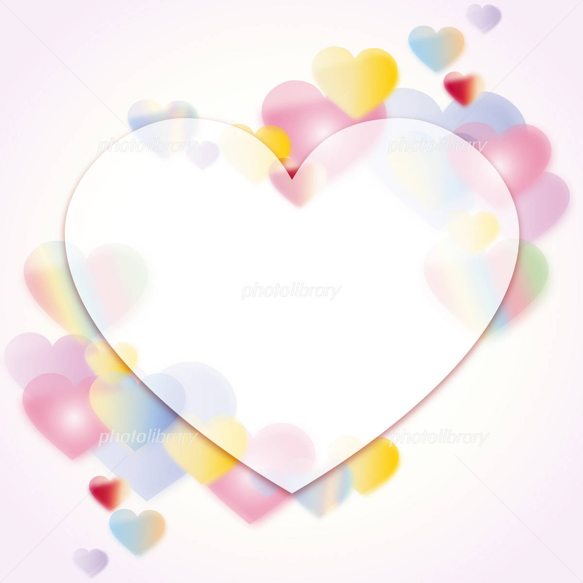 StValentine Valentine's Day Colorful Heart イラスト素材