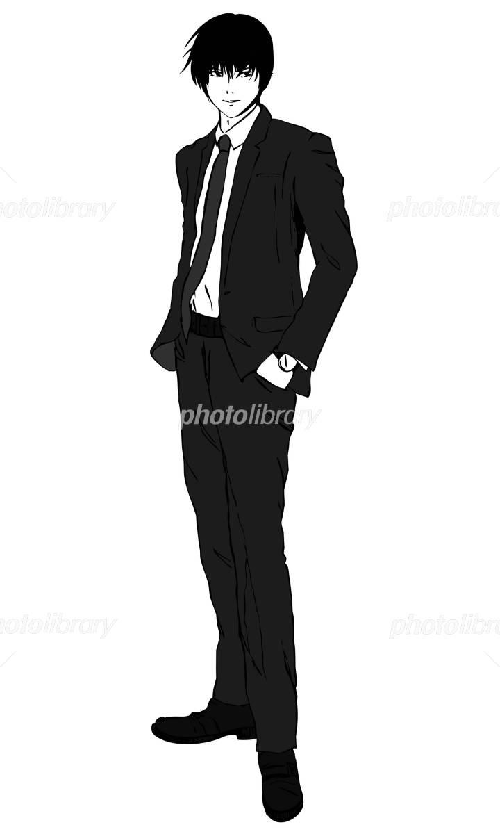 スーツ姿の男性 イラスト素材 2305138 フォトライブラリー