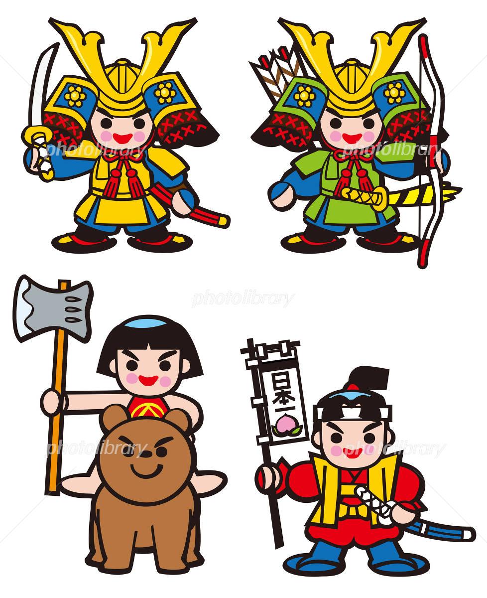 子供の日のキャラクター 武士 金太郎 桃太郎 イラスト素材 2310159