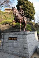 松山城 加藤嘉明公像