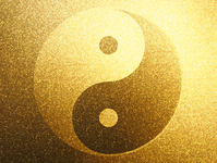 Taijitu of Gold [2300364] Yin
