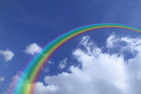 Blue sky and rainbow Stock photo [2301729] Blue