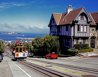 San Francisco skyline and the cable car Stock photo [2305807] San