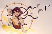 Raijin illustrations of Fujin Raijin Figure Stock photo [68318] Fujin