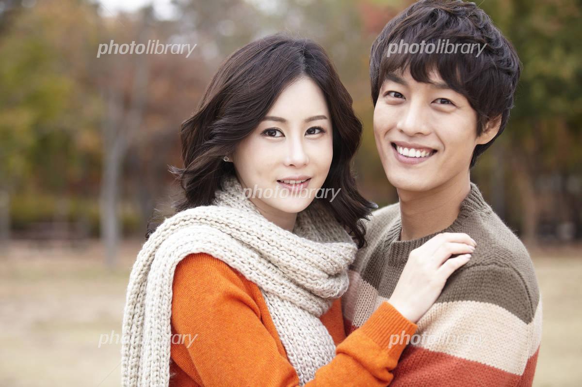 Autumn couple Photo
