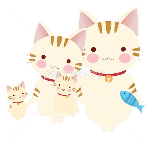 かわいい生き物 猫家族 イラスト素材 2429450 フォトライブラリー