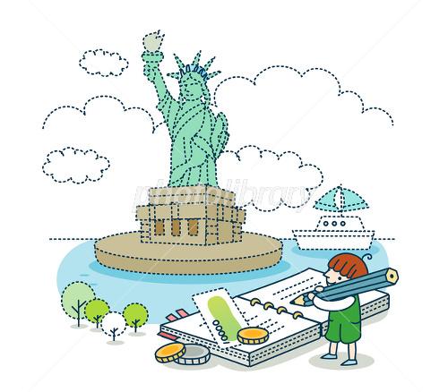 旅行イメージ アメリカ イラスト素材 2429883 フォトライブラリー