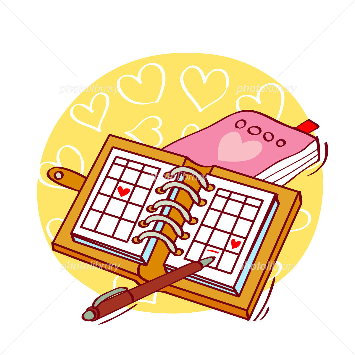 カレンダー 家族 スケジュール カレンダー : スケジュール イラスト 画像ID ...