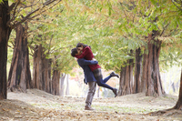 Autumn couple Stock photo [2427198] Outdoors