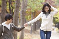 Autumn couple Stock photo [2427280] Outdoors