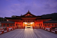 Dusk of Itsukushima Shrine Stock photo [2428015] Itsukushima