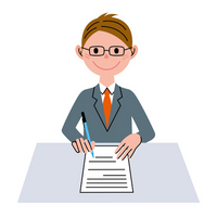 Documents business man [2430922] Contract