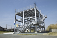 Tsunami evacuation Tower Stock photo [2431915] Tsunami