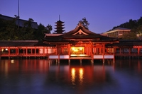 Dusk of Itsukushima Shrine Stock photo [2435348] Itsukushima