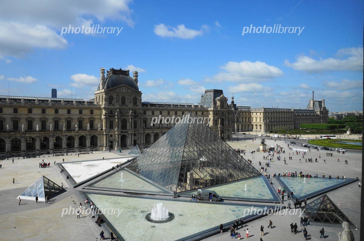 Louvre and glass pyramid Photo