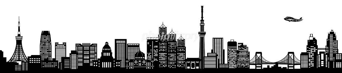 Tokyo silhouette イラスト素材