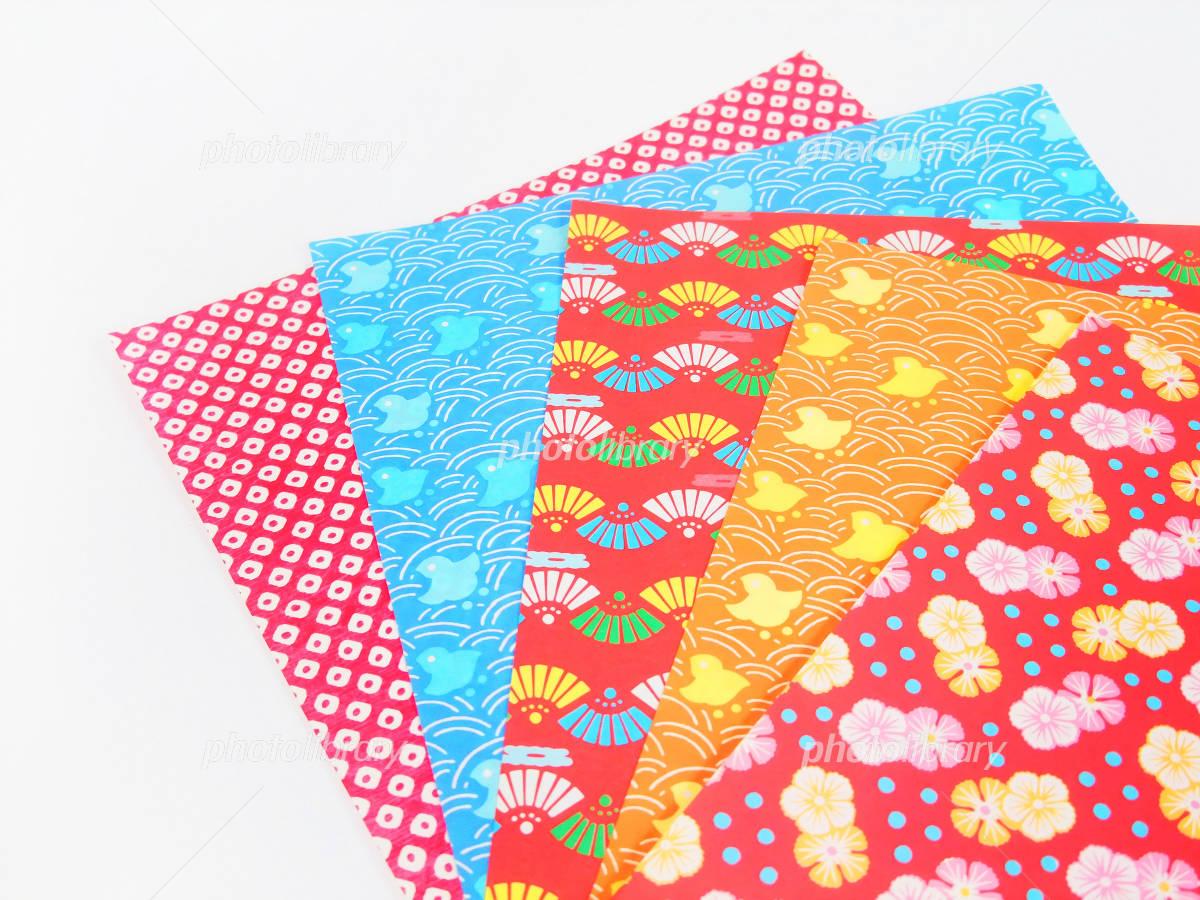 ハート 折り紙 : 折り紙 和柄 : photolibrary.jp
