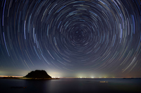 Diurnal motion of the northern sky Stock photo [2551260] Star