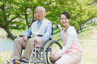 Senior Helper Stock photo [2552220] Wheelchair
