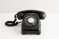 Black telephone Stock photo [2552431] Phone