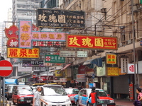 Cityscape sign Mongkok Shandong city of Hong Kong Stock photo [2552596] Hong