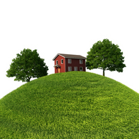 Lawn and hills and home [2553400] Lawn