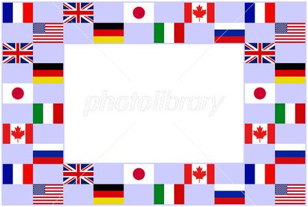 国旗のフレーム イラスト素材 2660105 フォトライブラリー